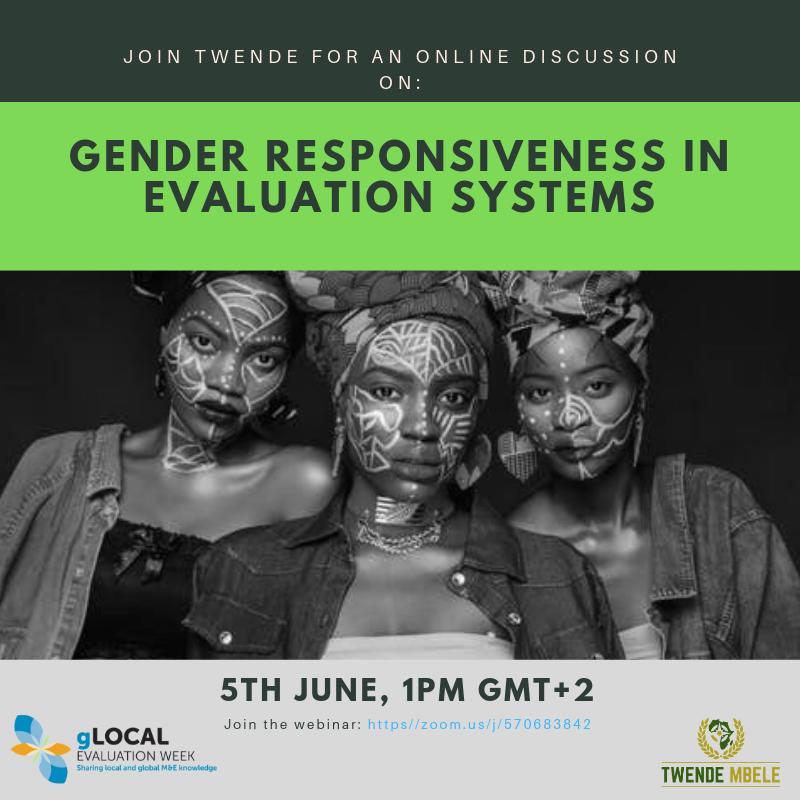 gLOCAL Evaluation Week: Gender Responsiveness Webinar